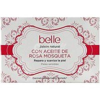 Belle Jabón natural con aceite de rosa mosqueta Pastilla 125 g
