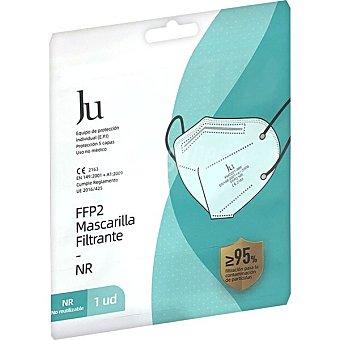 JU- E.FORTRESS Mascarilla filtrante FFP2 NR protección 5 capas blanca Blister 1 unidad