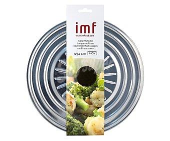 IMF Tapa multiusos fabricada en acero inoxidable con agarrador antitérmico, 32 centímetros de diámetro 1 unidad