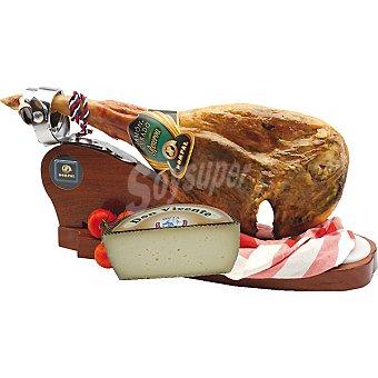 Dompal Jamón serrano Gran Reserva + 15 meses de curación pieza con regalo de una cuña de queso curado Camposagrado 700 G 7 kg