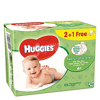 Huggies Toallitas infantiles Natural Care Pack 3x56 ud