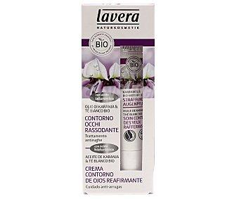 Lavera Naturkosmetik Crema reafirmante del contorno de ojos, con aceite de karanja y té blanco biológico lavera