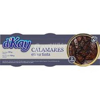 DKAY Calamar en trozos en su tinta Pack 3x65 g