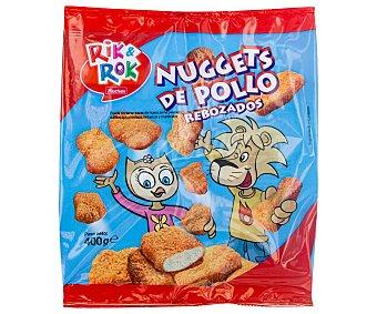 Rik&Rok Auchan Nuggets de pollo rebozados Bolsa 400 g