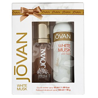 Jovan Lote mujer white musk eau toilette 50 ml + desodorante spray 150 ml 1 lote