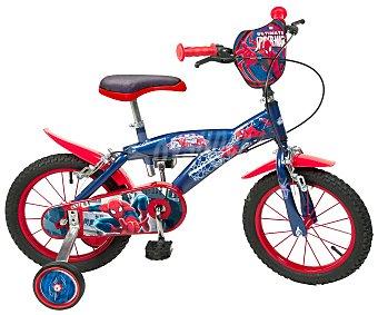 TOIMSA Bicicleta Infantil Spiderman 1 Velocidad 14 Pulgadas 1 Unidad