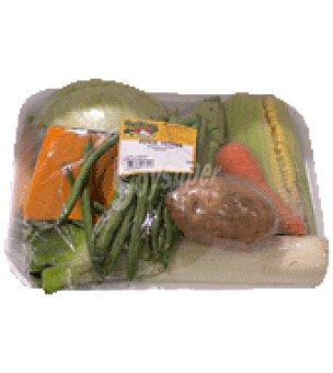 Surtido de Verduras (Zanahoria, Lechuga, Calabaza y Judías) Bandeja de 1000.0 g.