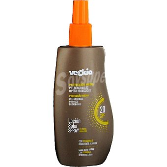 Veckia Loción solar con vitamina E FP-20 piel normal Spray 250 ml