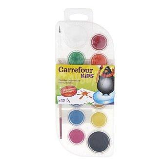 Carrefour Set 12 acuarelas 1 Pack