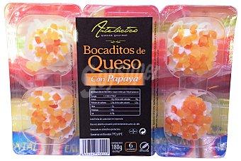ARTELACTICO Queso bocaditos con mermelada de papaya Bandeja 6 u
