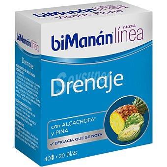 Bimanan Linea drenaje con alcachofa y piña Envase 40 capsulas