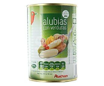 Auchan Alubias con verduras 430 gramos
