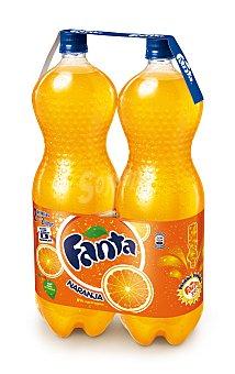 Fanta Bebida refrescante de naranja 2 botellas de 2 l
