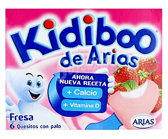 Kidiboo Arias Queso Fresa 12 Unidades 120 Gramos