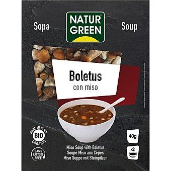 Naturgreen Bio sopa de boletus con miso ecologica sin lactosa 2 raciones envase 40 g Envase 40 g