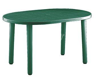 RESOL Mesa oval modelo Gala, de polipropileno verde y 140x90x73 centímetros 1 unidad