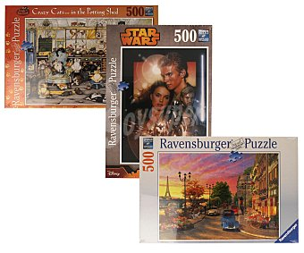 Ravensburger Puzzles surtidos de 500 piezas, 36x49 cm aproximadamente montado 1 unidad