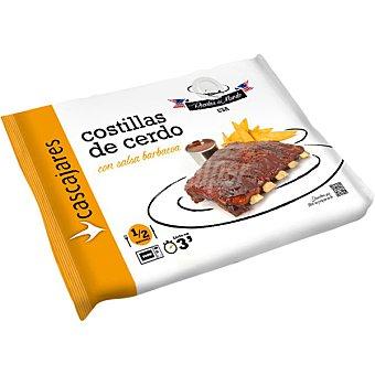 CASCAJARES Costillas de cerdo con salsa barbacoa Envase 500 g