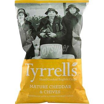TYRRELL'S Patatas Fritas con queso y cebolla Bolsa 150 g