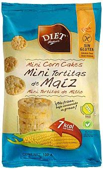 Diet Rádisson Mini tortitas de maíz sin gluten 100 gramos