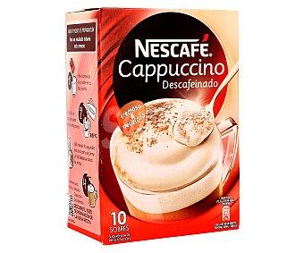 Nescafé Café cappuccino descafeinado 10 sobres