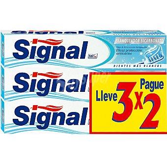 Signal Pasta de dientes blanqueadora bicarbonato pack ahorro 3x2 Pack 3 tubo 75 ml