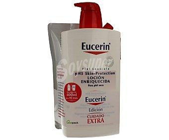 Eucerin Loción corporal enriquecida especial para pieles sensibles 1litro + 400