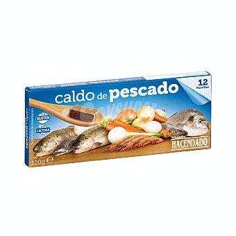 Hacendado Caldo deshidratado pastillas pescado Caja 12 pastillas