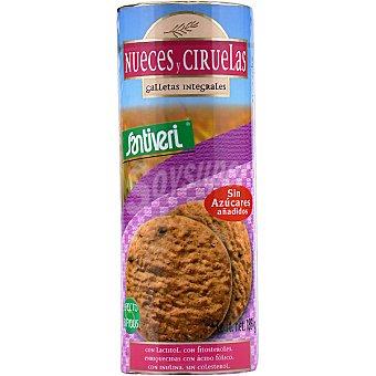 Santiveri Galletas integrales de nueces y ciruelas sin azucar añadido Envase 185 g