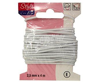 STYLE Hilo elástico redonda color blanco, 2,5 milímetros, 4 metros 1 Unidad