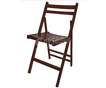 Mobilkit Silla plegable, fabricada en madera barnizada con acabado en color wengue, 98x46x4.2 centímetros 1 unidad