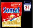 Detergente lavavajillas Oro 12 acciones Bolsa 31 dosis Somat