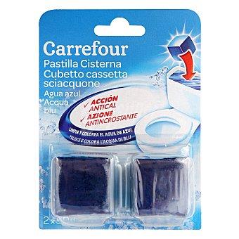 Carrefour Desodorizante cisterna en pastilla agua Azul 2 ud