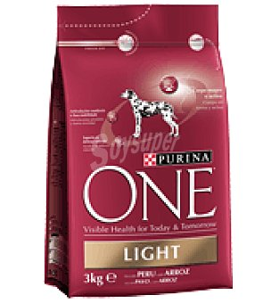 Purina One One light perro pavo y arroz 3KG