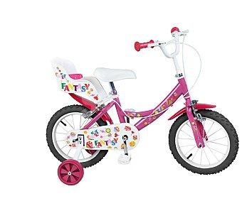 FANTASY Bicicleta infantil de 1 velocidad con portamuñecas trasero, modelo Fantasy 14 Pulgadas 1 unidad