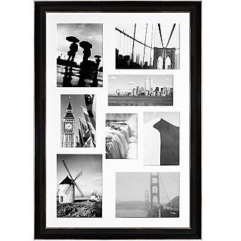HERGON Marco múltiple para 8 fotos en color negro y plata