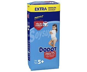 Dodot Pañal - pants - braguita talla 5+ para bebés de 12 a 17 kilogramos Pants 50 uds