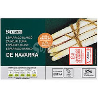 Igp navarra Espárrago grueso 6/9 piezas eroski Lata 125 g