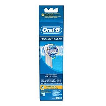 Oral-B Recambio cepillo dental eléctrico Precision Clean 4 ud