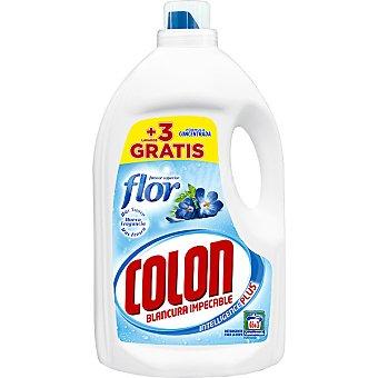 COLON detergente máquina líquido gel Toque de Flor concentrado  botella 46 dosis + 3 gratis