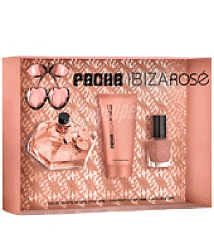 Pachá Ibiza Estuche de colonia spray 80 ml.+ body lotion 100 ml. + laca de uñas Rosé 1 ud