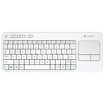 LOGITECH K400 Teclado inalámbrico y touchpad integrado en color blanco