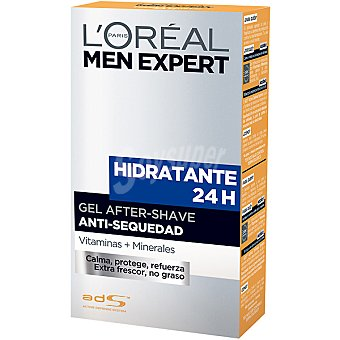 L'Oréal Men Expert After shave gel hidratante 24h anti-sequedad Frasco 100 ml
