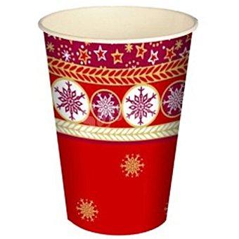 PAP STAR vaso cartón Christmas Composition paquete 10 unidades 20 cl