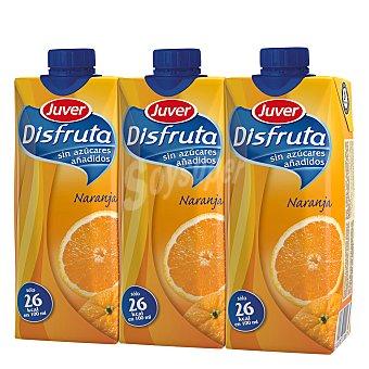 Juver Disfruta Néctar sin azúcar disfruta naranja Pack 3x33 cl