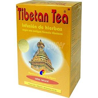 Tibetan tea Infusión de hierbas sabor natural  90 bolsitas (Estuche 180 g)