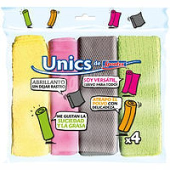 UNICS Bayeta kit de microfibras Pack 4 unid