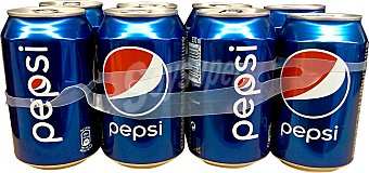 PEPSI Refresco de cola normal 8 latas de 33 cl