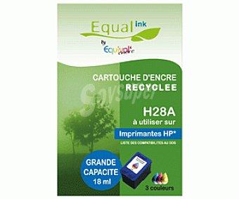 Equalink Cartuchos Reciclados de Tinta H28 Tricolor 1u