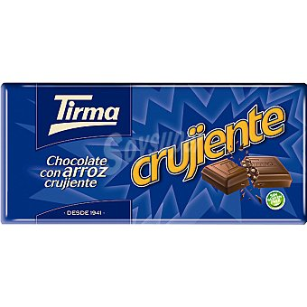Tirma chocolate con leche con arroz inflado crujiente tableta 125 g